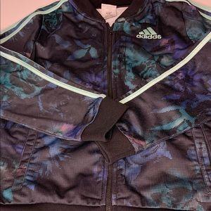 Adidas Youth floral bomber track jacket sz XL